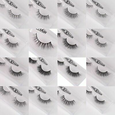 3D Mink Natural Curling Thick False Fake Eyelashes Eye Lashes Makeup Extension