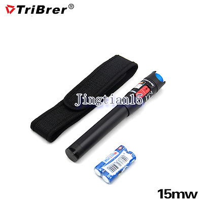 Red Laser Light Fiber Optic Cable Tester Visual Fault Locator Checker for 15KM