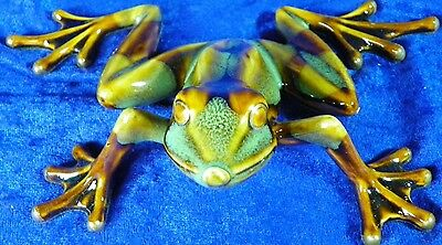 Golden Pond Collection by Green Tree Hand Crafted Ceramic Tree Frog in Box 5""