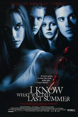 I KNOW WHAT YOU DID LAST SUMMER MOVIE POSTER 2 Sided ORIGINAL 27x40