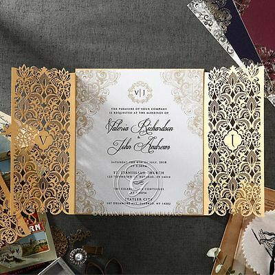 Wedding Invitation - Imperial Glamour - Pearl / PWI116022 / Sample Only