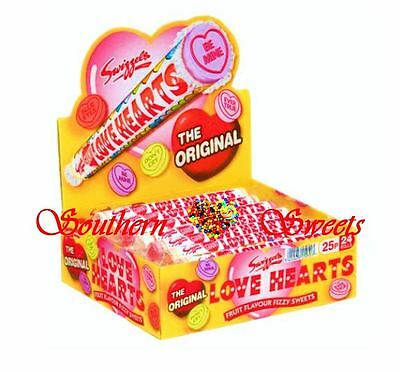 Giant Love Heart Rolls 24Ct Wrapped Pastel Lollies Weddings Candy Buffet