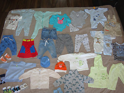 bulk lot 34 items of baby boy winter clothes size 00 3-6 months