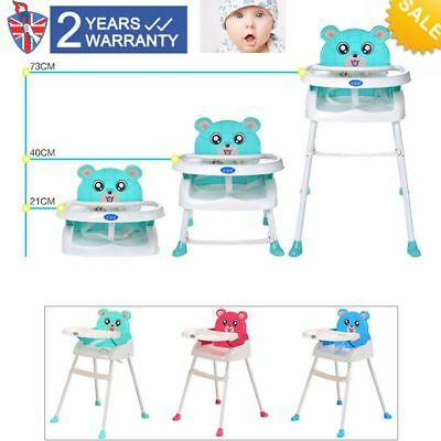 4 IN 1 Baby  High Chairs PORTABLE BABY FEEDING HEIGHT ADJUSTABLE HIGH CHAIR UK