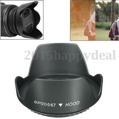 67mm Reversible Petal Flower Lens Hood Screw-on For Nikon Canon Olympus DSLR UK