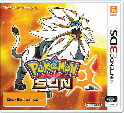 Pokemon Sun Nintendo 3DS Brand New *DISPATCHED FROM BRISBANE*