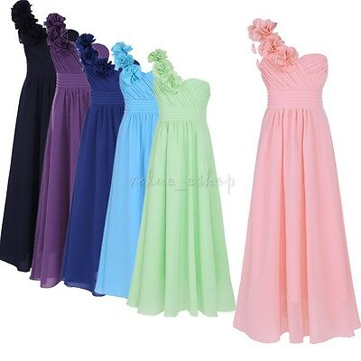 Chiffon Girl Dress Flower Party Formal Wedding Bridesmaid Pageant Prom Kids Gown