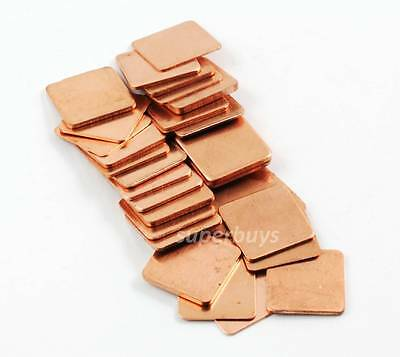 1, 3 or 30pcs 15mm x15mm Laptop GPU CPU Heatsink Heat Sink Copper Shim Set