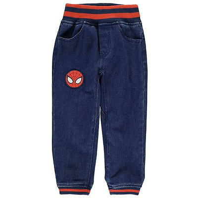 Spider-Man Marvel Jeans Trousers Bottoms Denim casual Ribbed Boys Kids Children