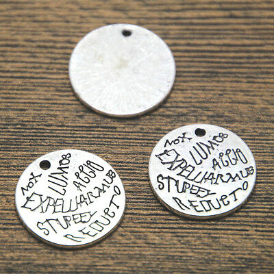 15pcs HP Spells Charms silver tone Custom Designed charm pendant 20mm