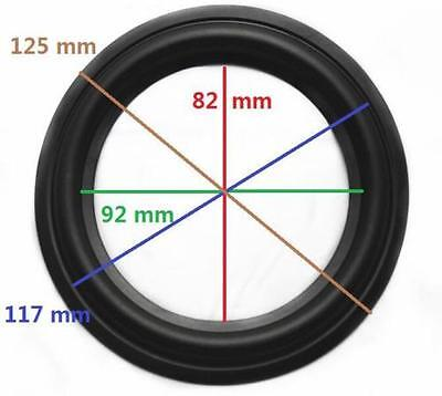 "High Quality 5"" 5inch 125mm Speaker Surround Repair Rubber Edge Replacement *"