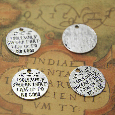 15pcs I Solemnly Swear That I Am Up To No Good Charms silver HP pendant 20mm
