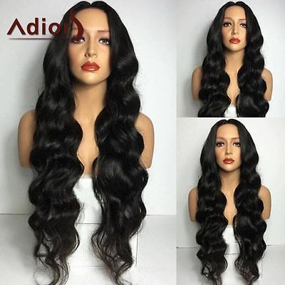 Adiors Natural Curly Long Middle Part Wavy Synthetic Hair Wigs For Fashion Women