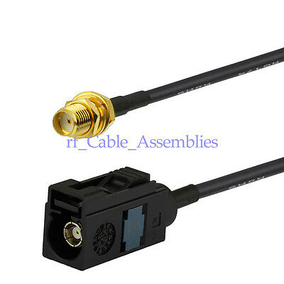 Radio Antenna Extension Aerial Cable FAKRA female code A to SMA jack RG174 15cm