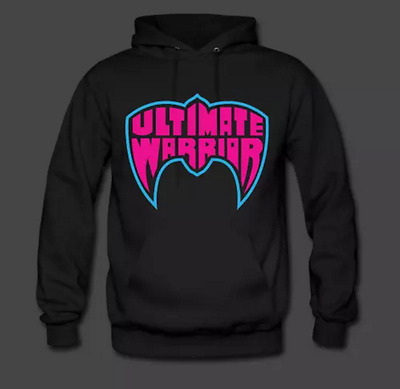 Ultimate Warrior Official Ultimate Retro Logo Hoodie WWE WWF