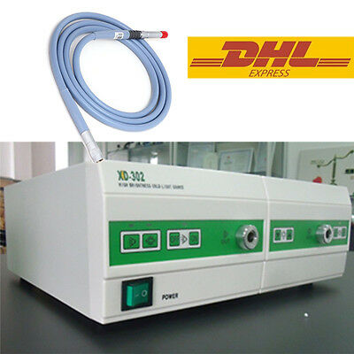 TWO HOLES Cold Light Source 250W+350W Xenon LED+Fiber Cable ø4mmX1800mm FDA