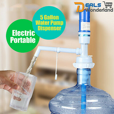 Electric Portable 5 Gallon Water Pump Dispenser Water Bottle Drinking w/ Switch