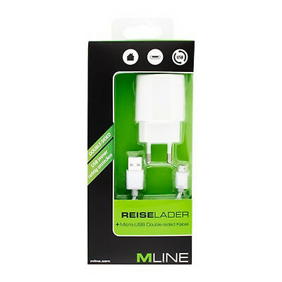 Mline Reiselader Micro USB weiss HMICROUSB3501WHDS