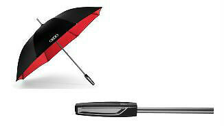 Genuine Audi Large Umbrella with reflective inserts - black / red - 3121500200