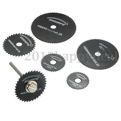 7pcs HSS Metal Saw Blades For Dremel Rotary Tool Cutting Discs Wheel + 1 Mandrel