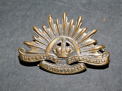 Australian Commonwealth Military Forces Cap Badge Wwi
