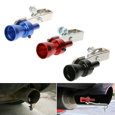 Universal Car Turbo Sound Muffler Exhaust Pipe Vale Simulator Whistle Size S