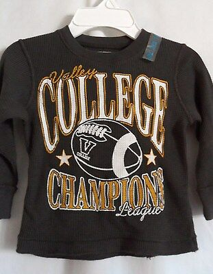 Boys 24 Month Gray College Football Thermal Shirt Nwt ~ The Children's Place