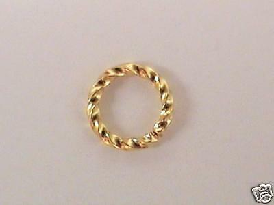 48x GOLD-PLATED FANCY TWISTED JUMPRINGS, 8mm, 16ga