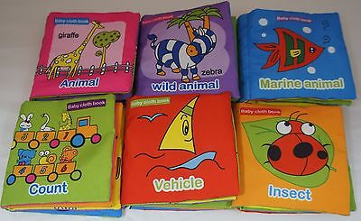 6pcs Intelligence development Cloth Cognize Book Educational Toy for Kid Baby