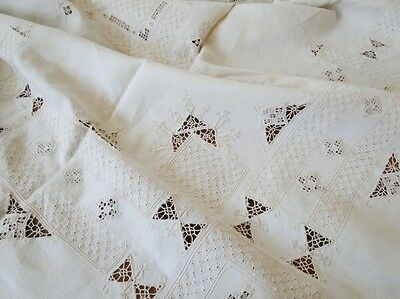 Estate Linens - Lovely Reticella ,embroidered Tablecloth