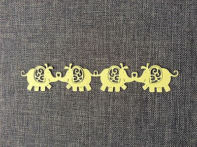 Tattered Lace Baby Elephant Border Die-cut 12pk Scrapbooking Cardmaking