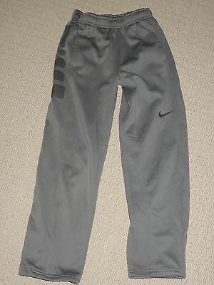 Boys Nike Therma-Fit Elite Track / Sweat Pants Youth Large Gray 2 Pockets