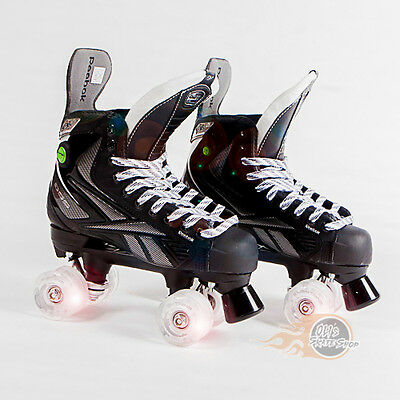 Reebok RibCor 9K Pump Quad Roller Skates - Bauer Style - Light Up Wheels