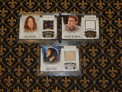 2014 Country Music 3 Card Lot SIlver Musician Materials McCreery Kramer Perry