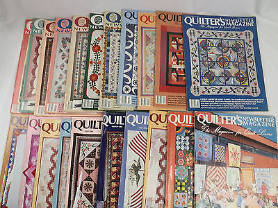Quilters Newsletter Magazine Lot of 21 from the 1980's