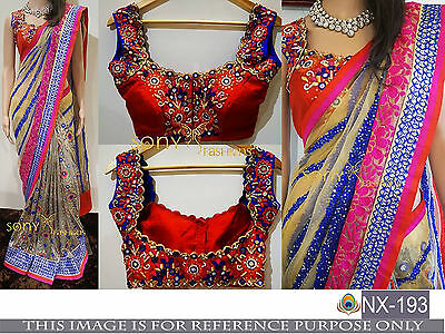 Bollywood Ethnic Designer Saree Party Wear Indian Pakistani Wedding Sari Fancy