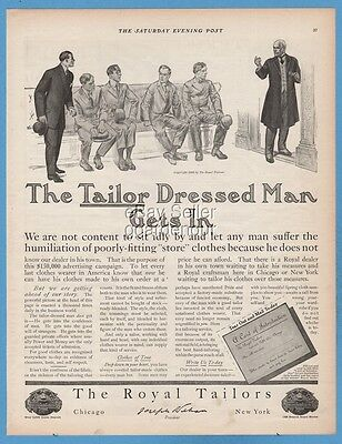 1909 Royal Tailors Vintage Clothing 1900's men's suit clothes fashion style ad