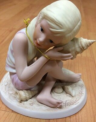 Remember When SOUNDS OF THE SEA 1999 Frances Hook Girl with Shell Figurine