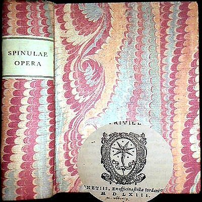 1563 Works Publio Francesco Spinula 1St/only Edition Horace Catullus Queen Mary