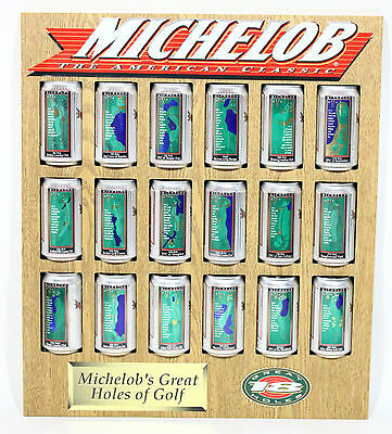 """Super Rare 24"""" X 20.5"""" Michelob's Great 18 Holes Of Golf Michelob Beer Can Sign"""