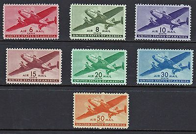 US - #C25-C31 - Twin Motor Transport Planes - set of 7  - B6626