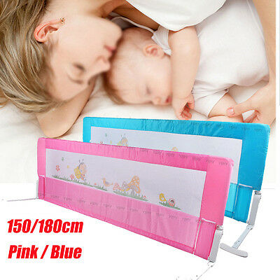 150cm/180cm Portable Fold Away Child Toddler Bed Rail Safety Bedguard Protection
