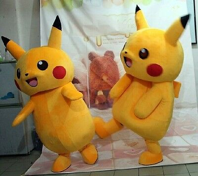 Brand Halloween Party Pokemon Go Cosplay game Pikachu Adult Mascot Costume
