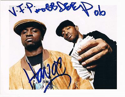 "Mobb Deep genuine autographs signed 5""x7"" photo hip hop duo Havoc and Prodigy"