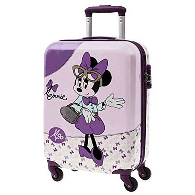 Trolley Valigia Minnie Glam 37X55X20Cm Disney 4 R Originale Bagaglio Mano New
