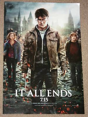 HARRY POTTER DEATHLY HALLOWS PT 2 - 11.5x17 MOVIE POSTER