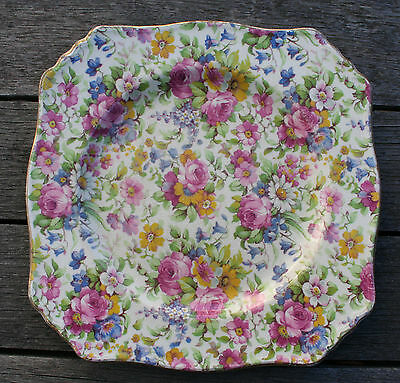 ROYAL WINTON CHINTZ - Vintage Summertime Ascot Plate