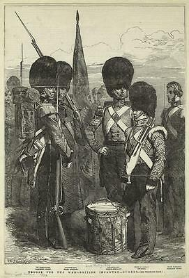 British Army Empire 1854 Guards Infantry Flag Drum 6x4 Inch Print