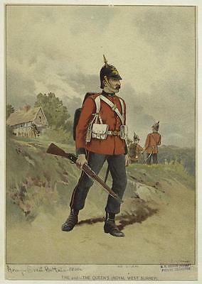 British Army Empire 19thc 2nd The Queen's Royal West Surrey 6x4 Inch Print