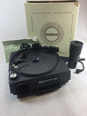 Kodak Carousel Projector Auto Focus 850 Working With Manual, Case, Remote.